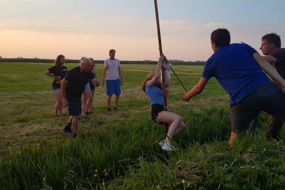 Fierljeppen in Friesland