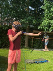 Archery tag spelen in Friesland