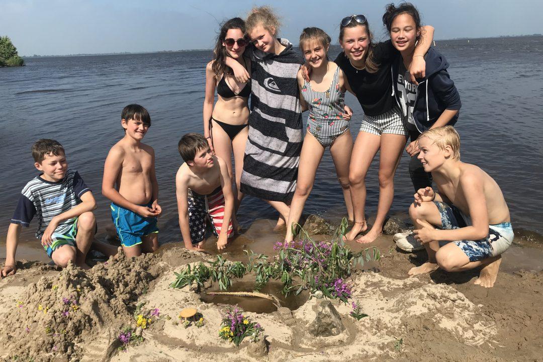 schoolkamp varen naar een eiland